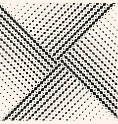 seamless pattern with halftone triangle tiles vector image