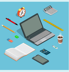 set of office office devices vector image