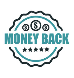 shopping certificate money back guarantee vector image