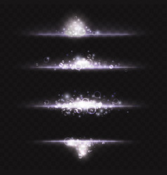 Silver white glowing light effect magic cold vector