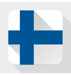 Simple flat icon Finland flag vector image