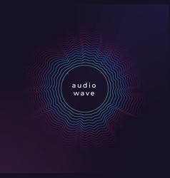 sound circle wave abstract music ripple audio vector image