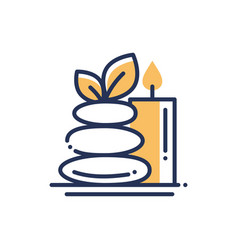Spa relaxation - modern single line icon vector