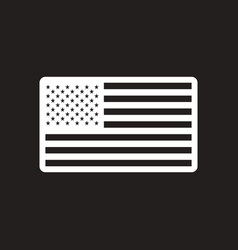 stylish black and white icon american flag vector image