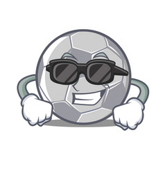super cool football character cartoon style vector image