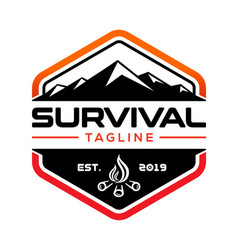 Survival logo design vector