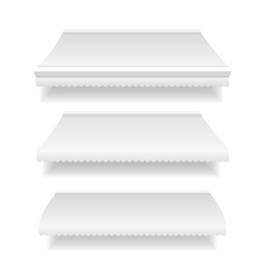 Template White Blank Awning Set vector