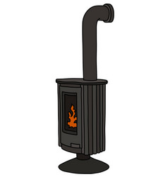 The black stove vector