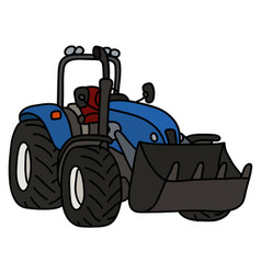 The blue small loader vector