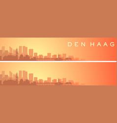 the hague beautiful skyline scenery banner vector image