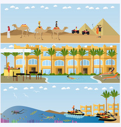 trip to egypt concept flat style design vector image