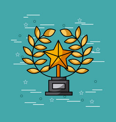 Trophy star movies art vector