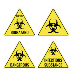 warning yellow signs in triangular shape vector image