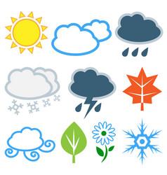 weather and seasons set vector image