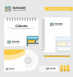 website logo calendar template cd cover diary and vector image