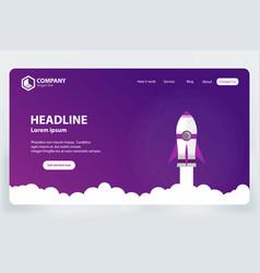 Website ranking landing page template design vector