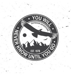 you will never know until you go summer camp vector image