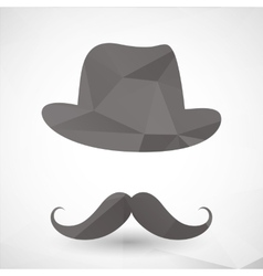 abstract triangles hipster mustache vector image
