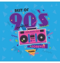 Best of 90s illistration with realistic tape vector image