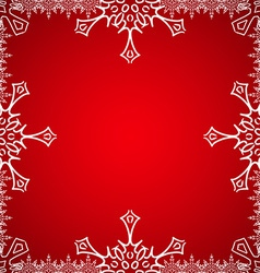Christmas frame with snowflakes on the edge vector image vector image