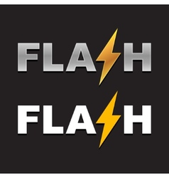 Flash Logo vector image vector image