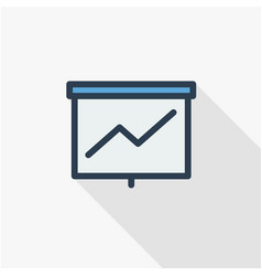 growth graph chart market success arrow up thin vector image vector image