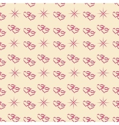 Heart and star seamless pattern vector