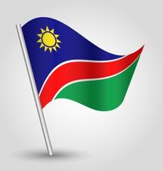 namibian flag on pole vector image vector image