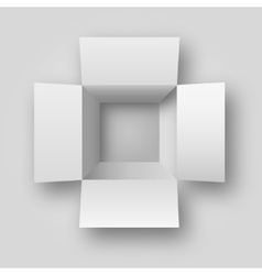 Opened white box vector image