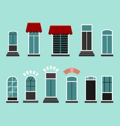 set of plastic or wooden door frames vector image vector image
