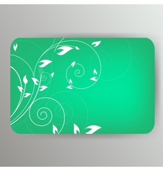 Abstract card with floral background vector image