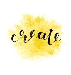 Create Brush lettering vector image