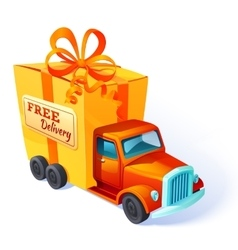 Gift Car Box Composition vector image