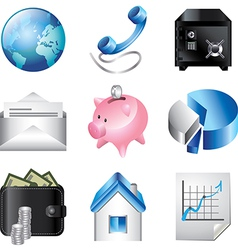 icons business communication vector image vector image