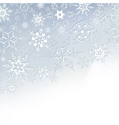 Winter stylish background with snowflakes vector image