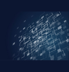 abstract geometric technology design vector image vector image