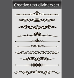 creative text dividers set vector image vector image