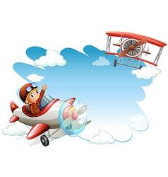 Flying jets frame vector image vector image