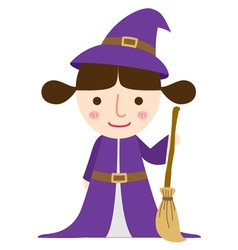 Witch girl vector