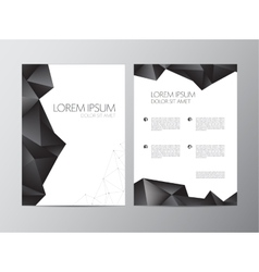 Abstract modern flyer brochure design vector image vector image