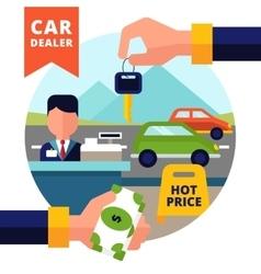 Buying Car vector image