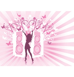 disco females vector image