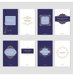 Luxury vintage card templates set vector image vector image
