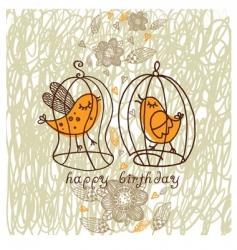 romantic birds vector image vector image