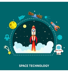 Space Technology Concept vector image