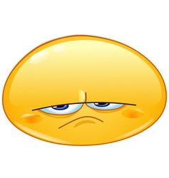 upset emoticon vector image vector image