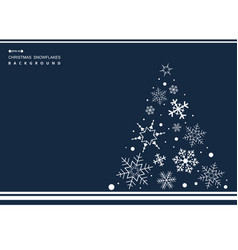 abstract of christmas simple blue color vector image