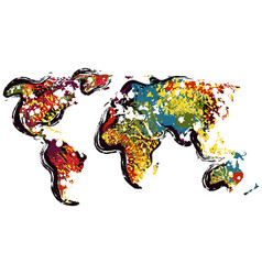 Abstract world map vector