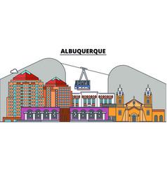 albuquerqueunited states flat landmarks vector image