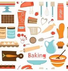 Baking wallpaper vector image